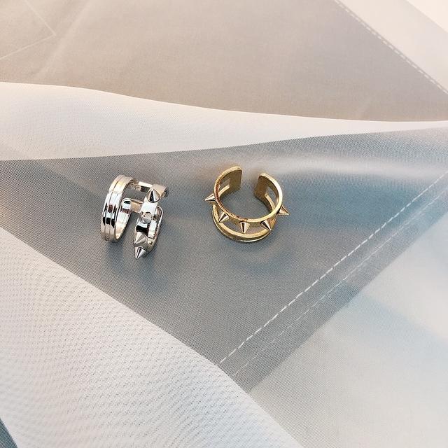 914175 雙環龐克戒指 - 兩色