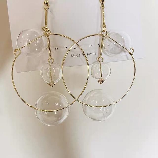 81B211 空氣泡泡金屬耳環