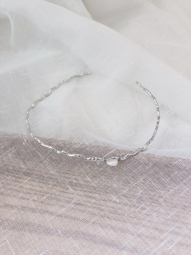 916121 貝殼金屬頸環