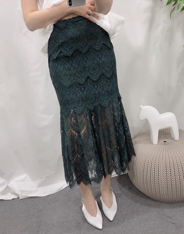 914052 絕美蕾絲開岔魚擺裙 - 四色