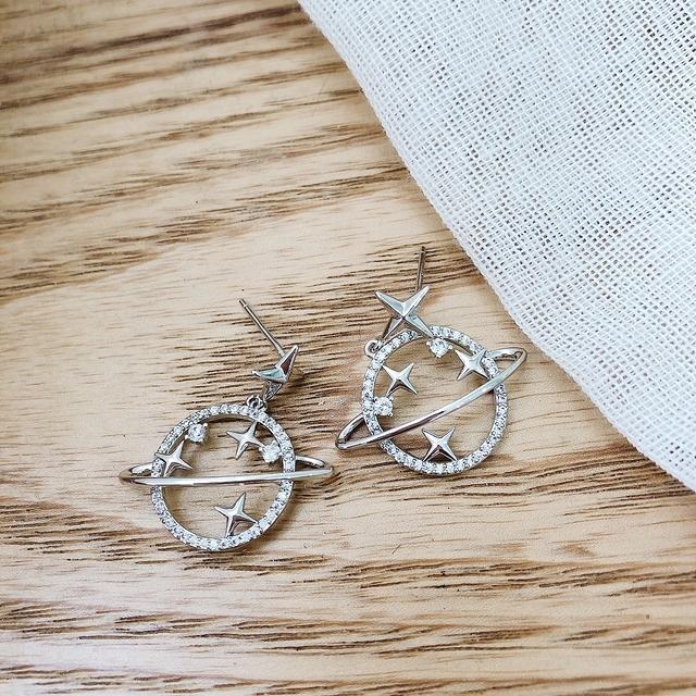 916160 細鑽星球耳環