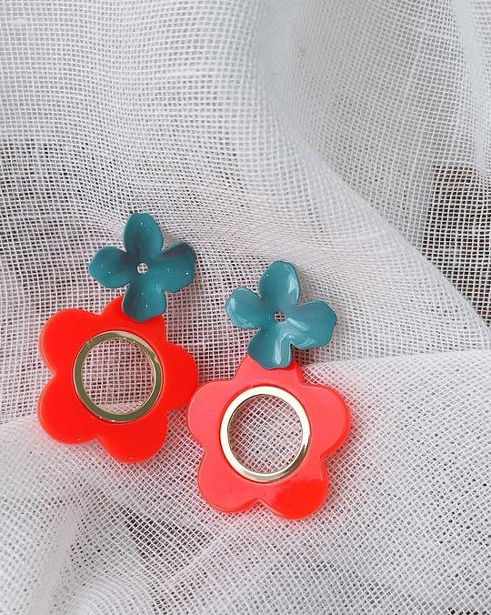 916120 幸運小花耳環 - 兩色
