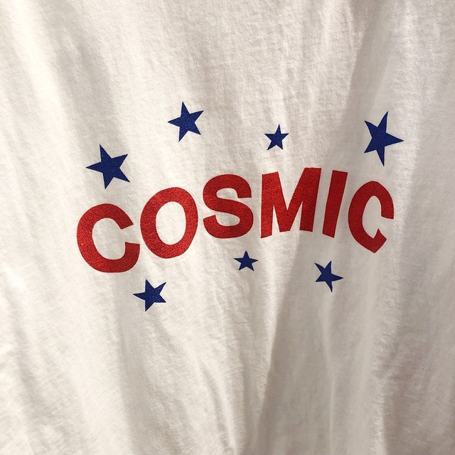 914053 cosmic破損感棉tee - 藍色