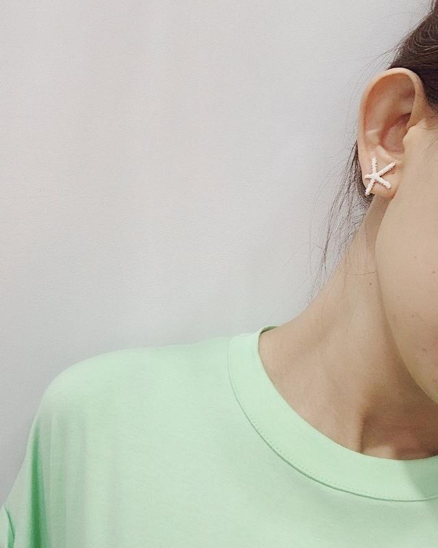 927211 海洋星星耳環 - 黃