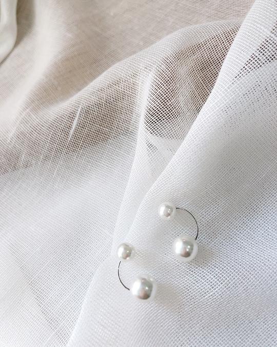 916112 雙珍珠小巧耳環