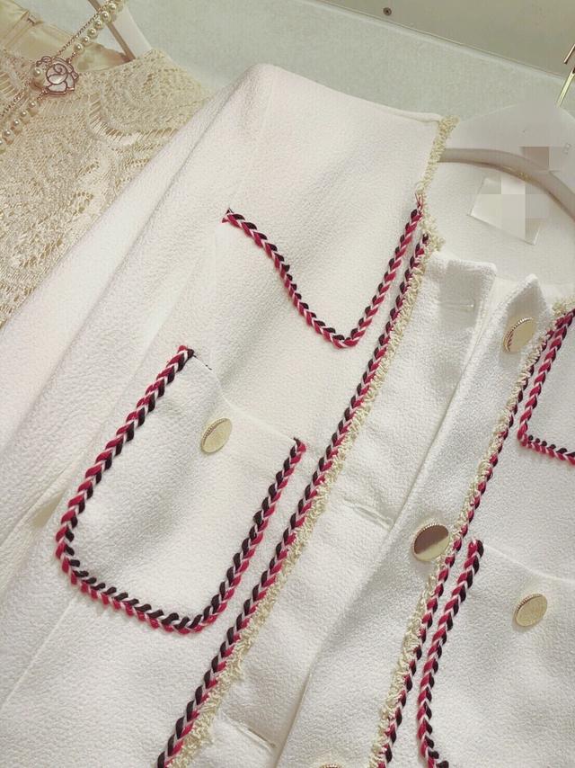 913083 華麗編織收編西裝外套