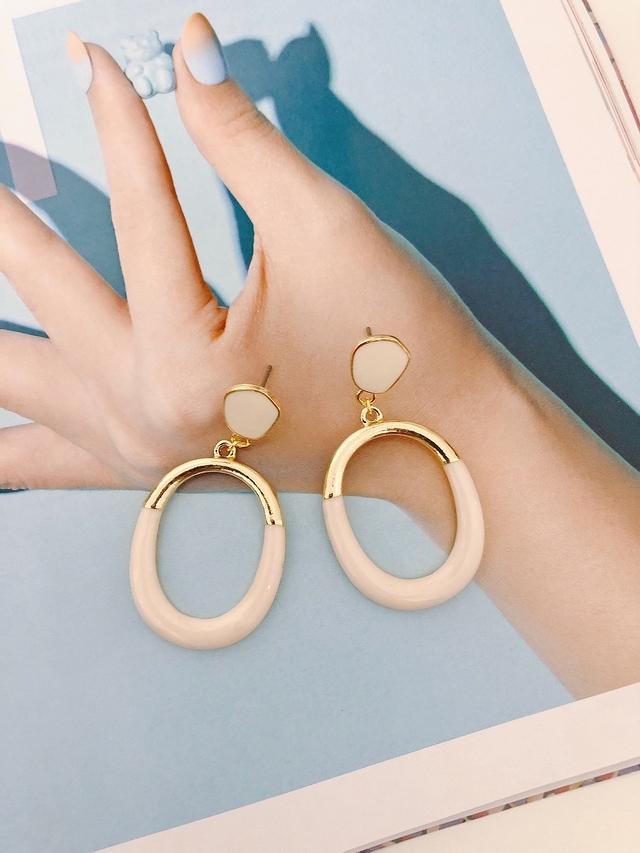 915131 拼接設計環狀耳環