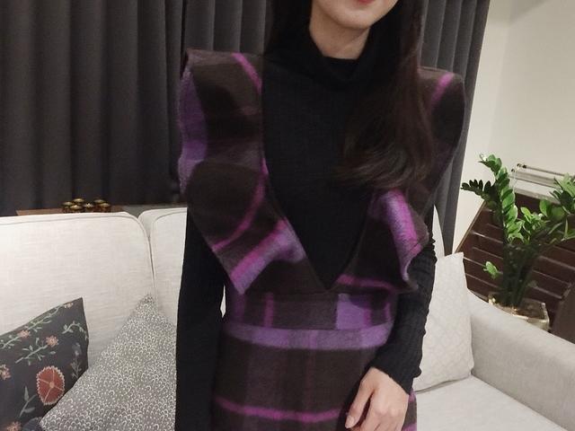 811006 格紋波浪洋 - 紫