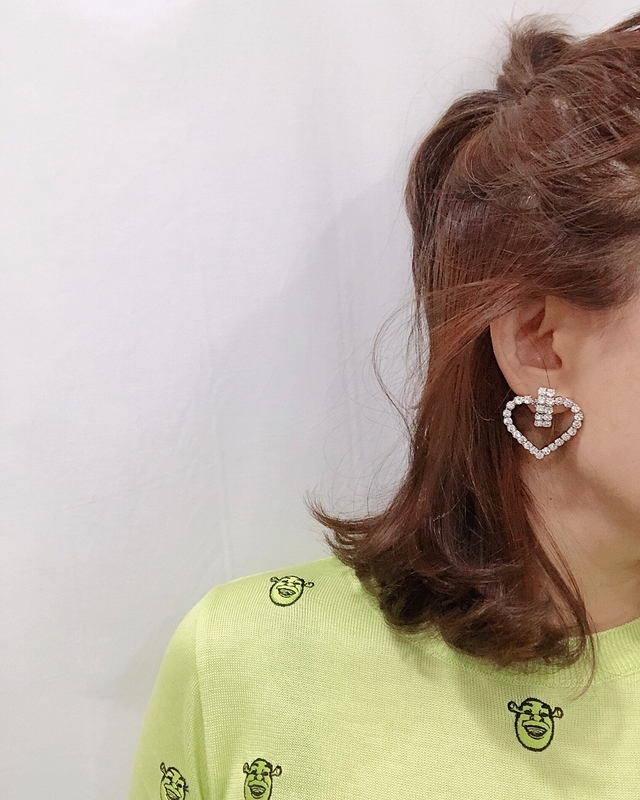 913106 愛心鑲鑽耳環