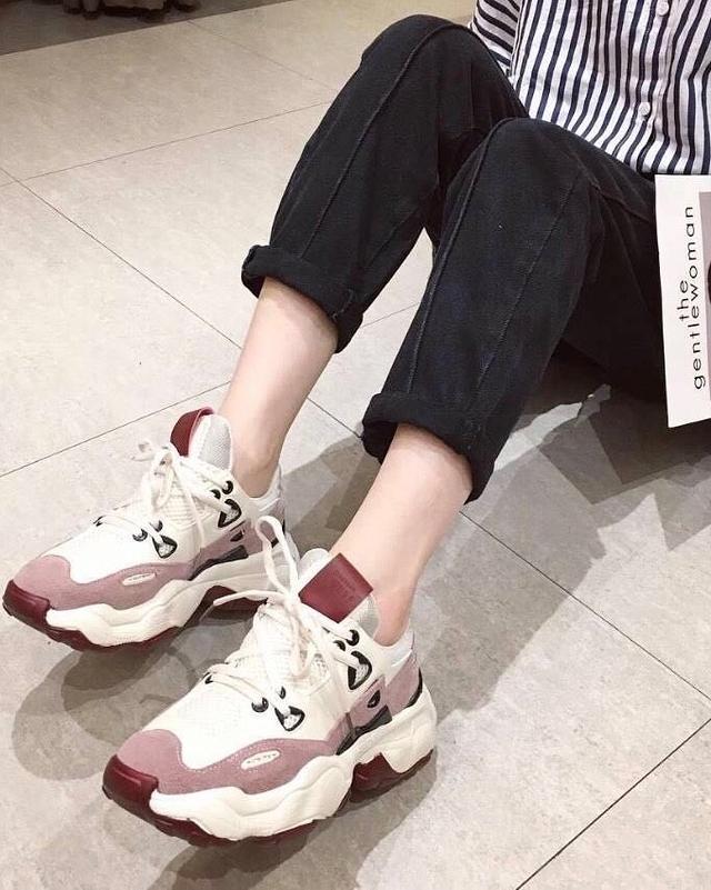 923143 帥氣老爹鞋 - 灰白24.5
