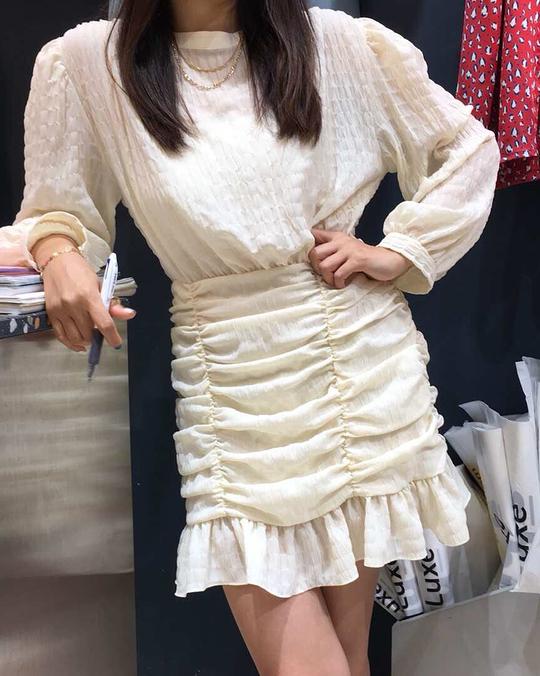 918057 精緻雪紡洋裝 - 三色