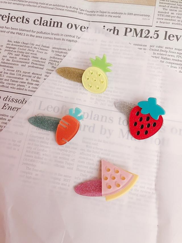 713073 可愛水果髮飾-鳳梨/胡蘿蔔