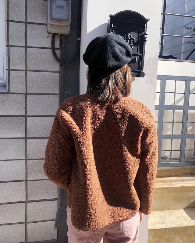 81B053 QQ毛麂皮內裡外套 - 兩色 (雙面穿)