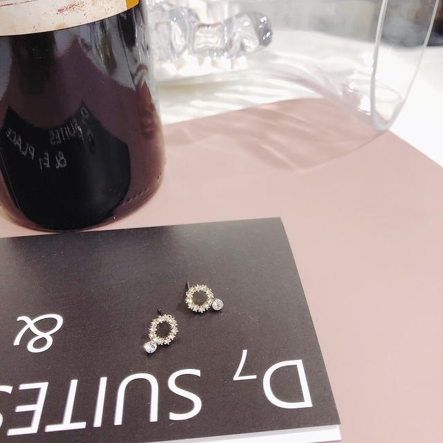 914164 氣質小鑽耳環